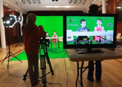 tournage en studio fond vert école villennes
